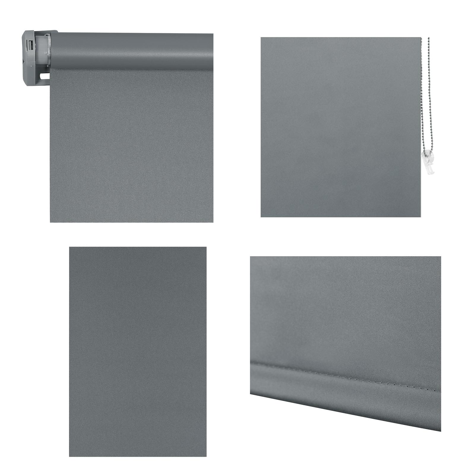 Thermorollo Verdunkelungsrollo klemmfix ohne Bohren Fenster Seitenzugrollo SRB10