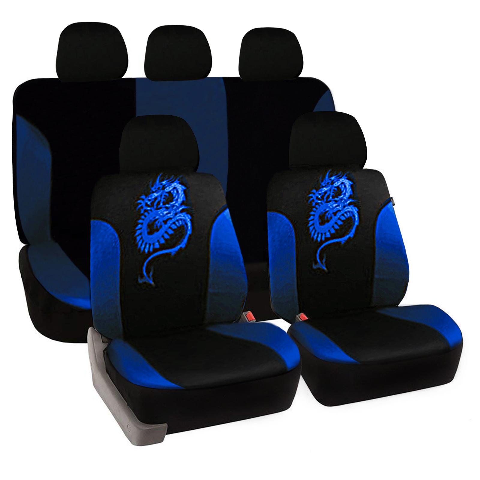 2x Sitzbezüge Vordere Schonbezüge Blau Polyester für Honda Hyundai Mazda Opel