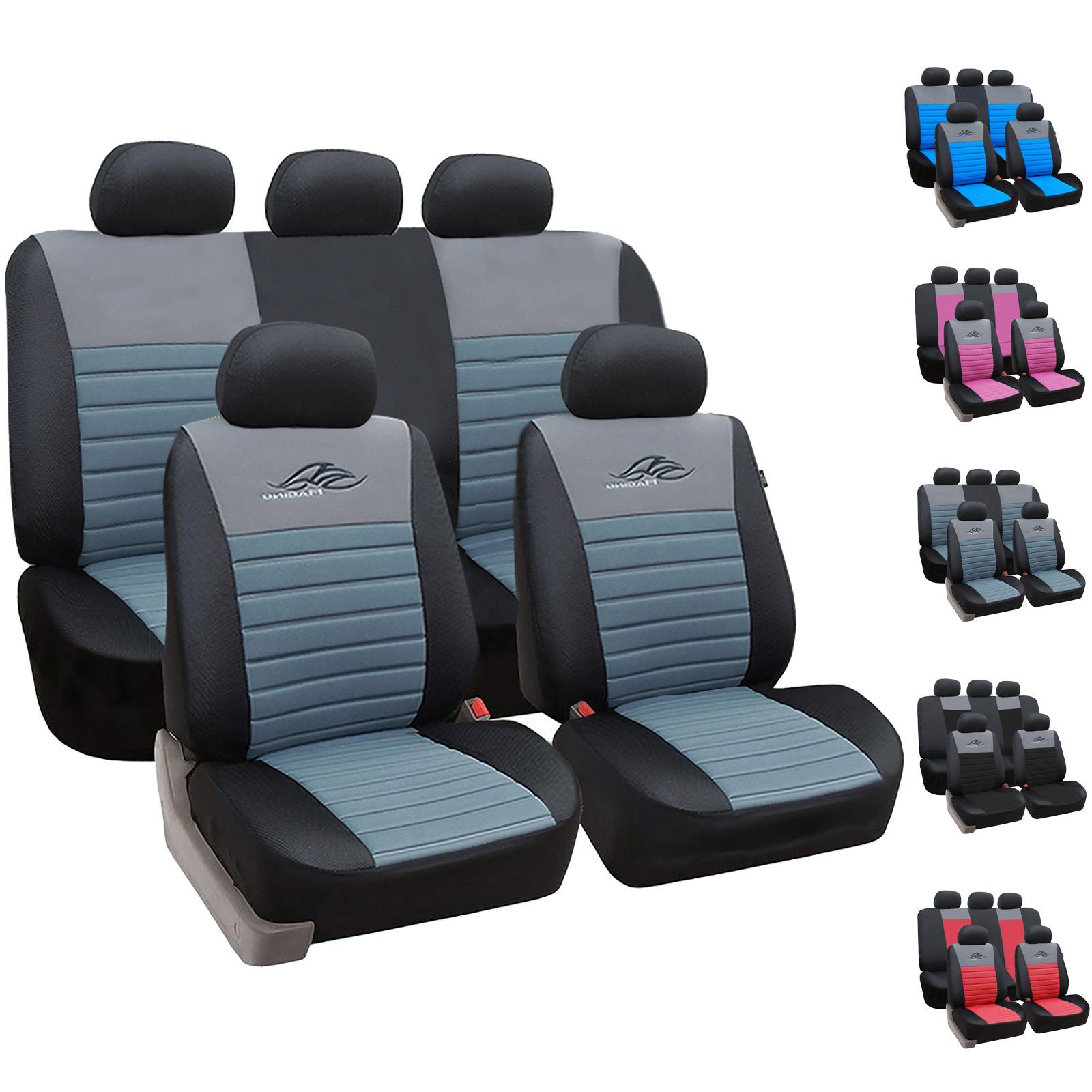 Seat Ibiza Schwarz Universal Sitzbezüge Sitzbezug Auto Schonbezüge MODERN