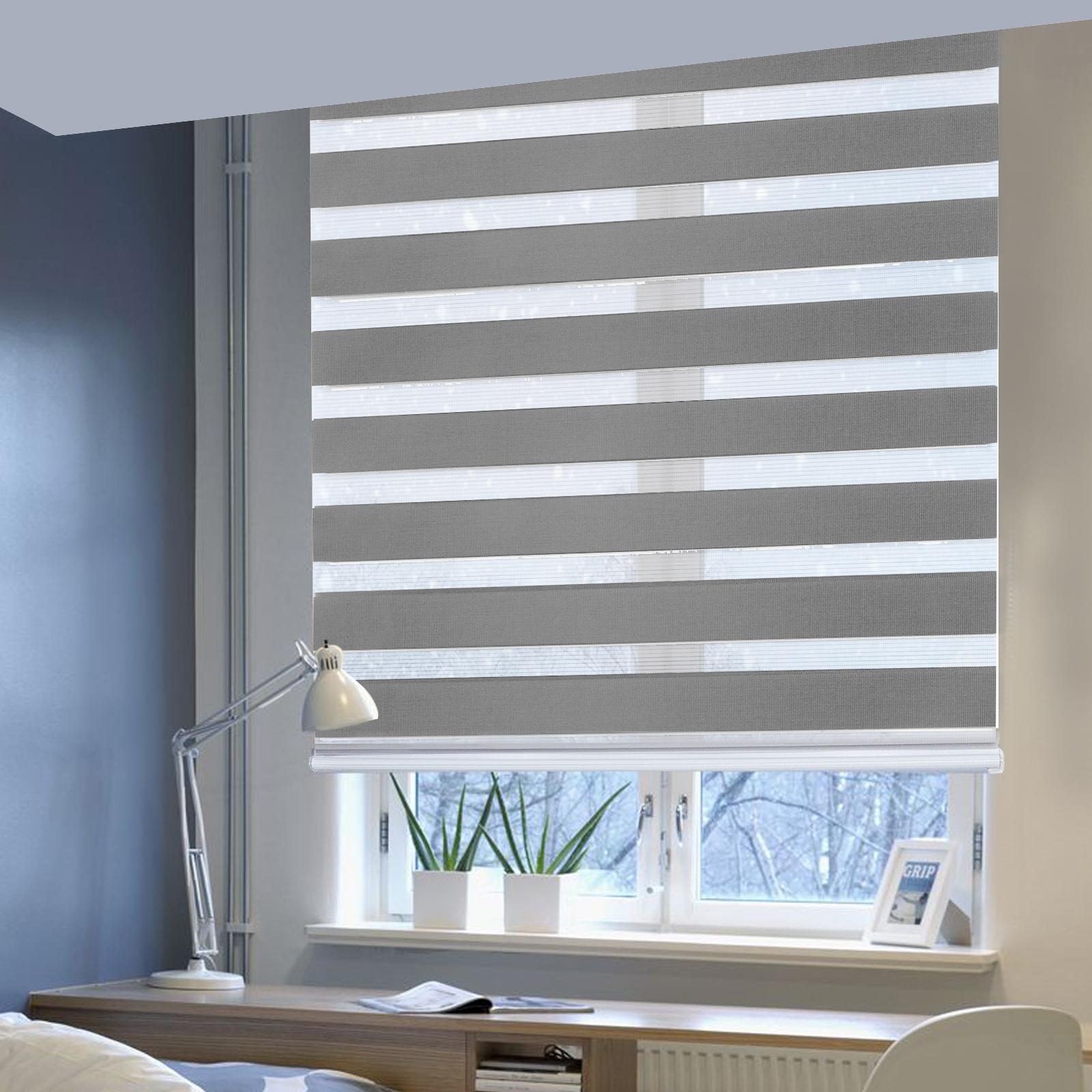 doppelrollo klemmfix ohne bohren fenster sichtschutz kettenzug rollo sdrb01 ebay. Black Bedroom Furniture Sets. Home Design Ideas