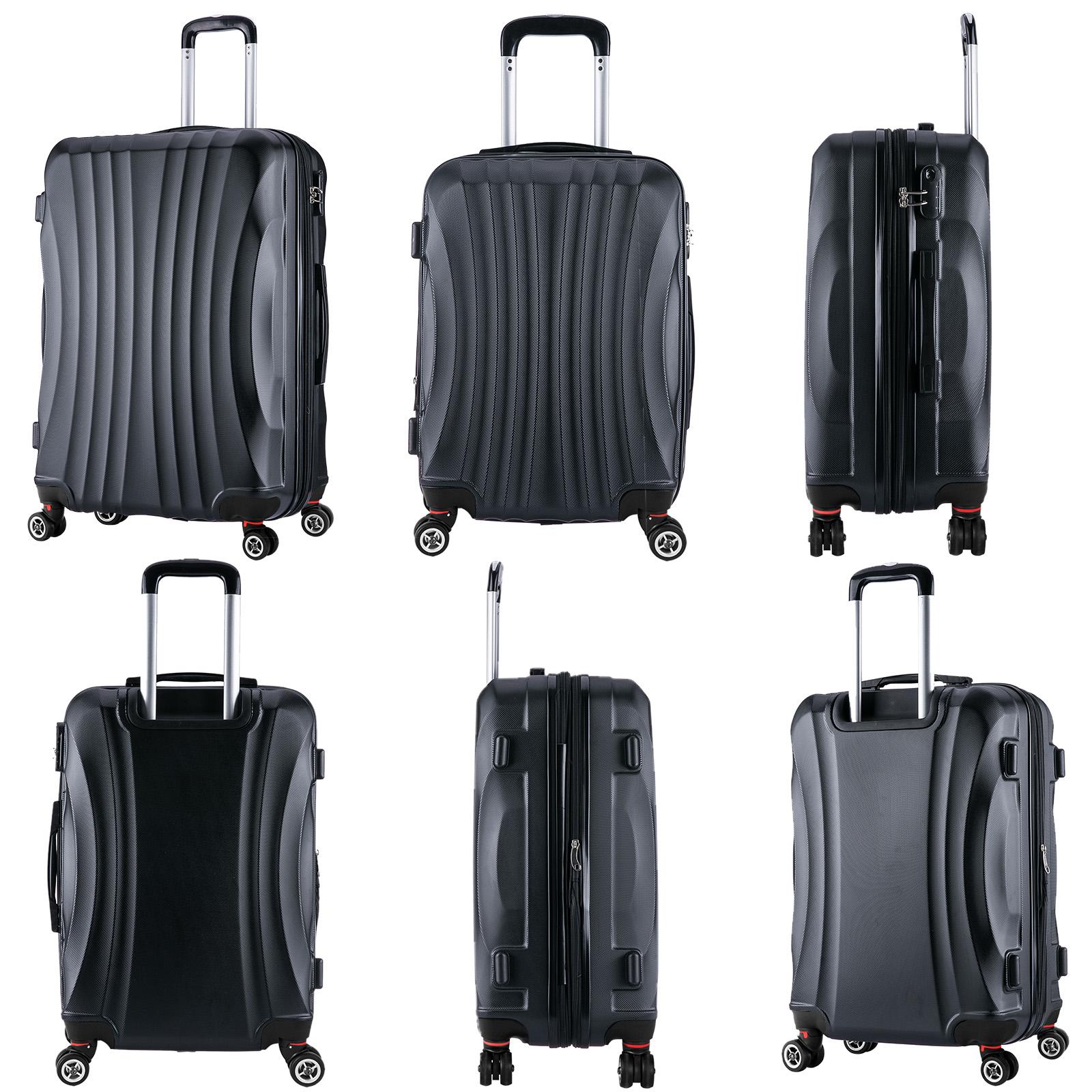 reisekoffer harschale 4 rollen aus premium abs leicht. Black Bedroom Furniture Sets. Home Design Ideas