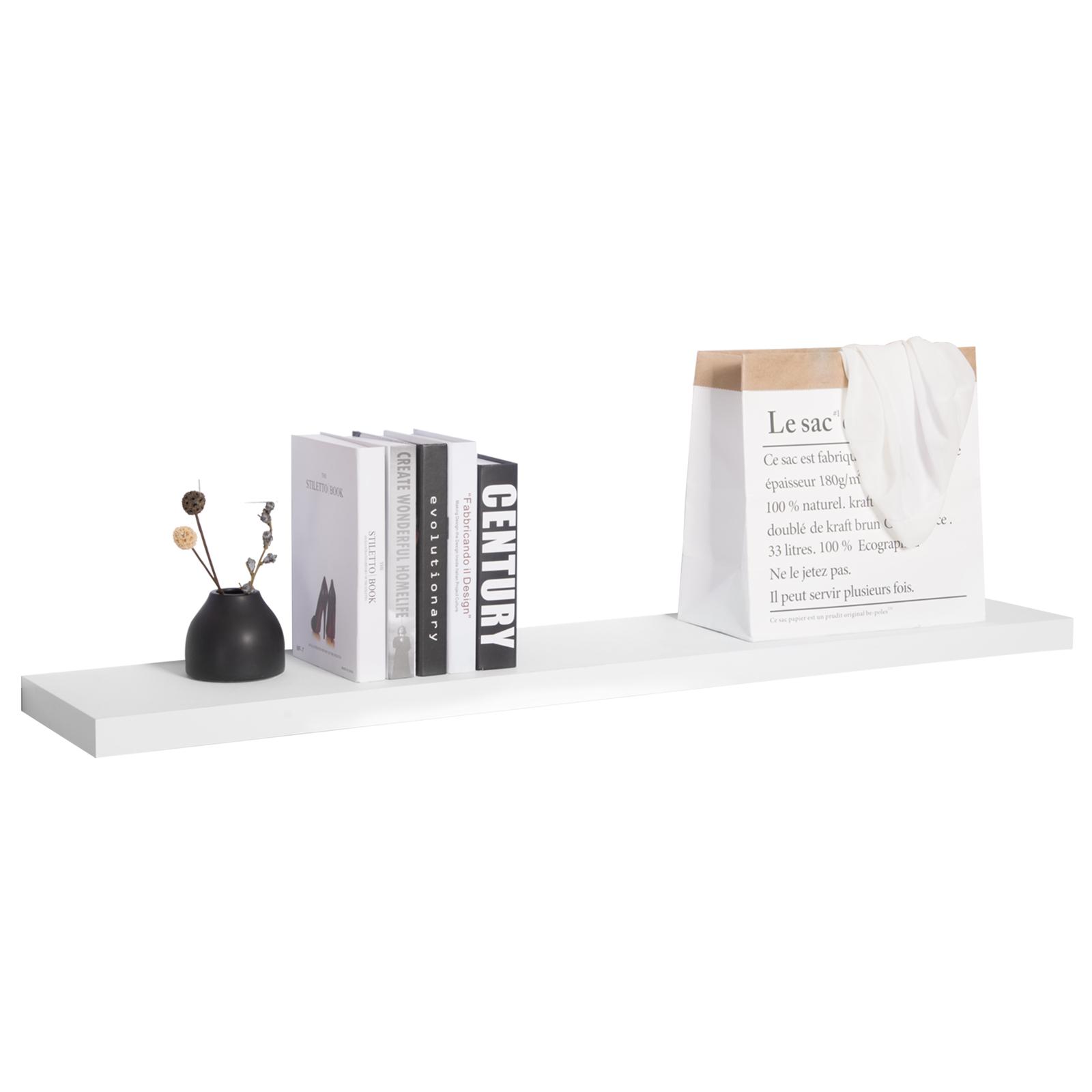 wandboard wandregal b cherregal cd dvd regal holz board 60cm lang wei sws0196 ebay. Black Bedroom Furniture Sets. Home Design Ideas